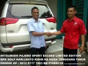 Pajero Sport EXCEED 2WD AT Limited Edition Pak Dolf Harijanto Kirim ke Kupang